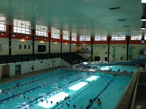 Queen mother sports centre 223 vauxhall bridge road pimlico victoria south london sw1v 1el for A swimming pool is 50m long and 20m wide